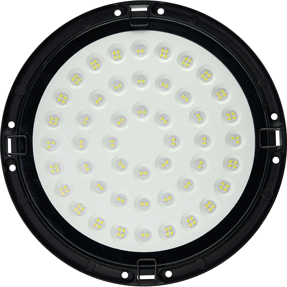 "AL1004 ""High bay""  2835 SMD 150W 120° 6400K IP65 AC175-265V/50Hz,черный 260*88мм"